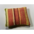 1 Pillow in Salmon Stripe