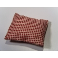 1 Pillow in Brick Red Check