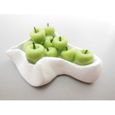 Green Apples in White Bowl