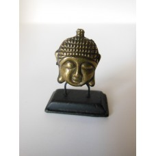 Small Gold Buddha Head on Black Base