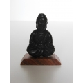 Buddha Statue on Angled Wood Base