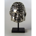 Small Buddha Head on Black Base