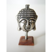 Small Buddha Head on Cherrywood Base
