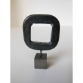 Black Open Square Sculpture