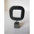 Black Open Square Sculpture