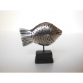 Medium Fish Sculpture on Black Base