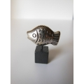 Small Fish Sculpture on Black Base