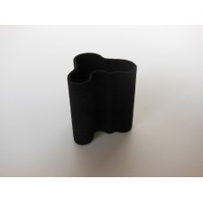Tall Wave Vase in Black