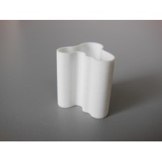 Tall Wave Vase in White