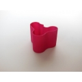 Short Wave Vase in Fuschia
