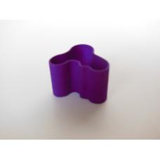 Short Wave Vase in Purple