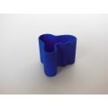 Short Wave Vase in Royal Blue