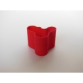 Short Wave Vase in Red