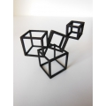 Cubed Art Sculpture in Black