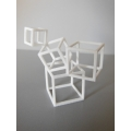 Cubed Art Sculpture in White