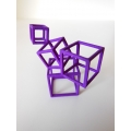Cubed Art Sculpture in Purple