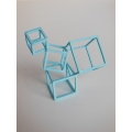 Cubed Art Sculpture in Light Blue