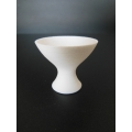 Footed Vase in White
