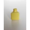 Yellow Square Vase