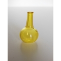 Tall Yellow Glass Vase