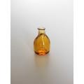 Short Amber Glass Vase
