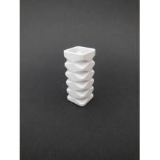 White Square Tall Vase
