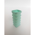 Light Blue Square Tall Vase