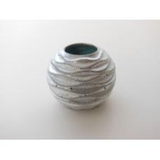 Silver Round Ripple Vase