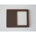 Picture Frame Blank - Offset Large Rust