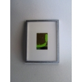 Picture Frame with Digital Art - Abstract Green