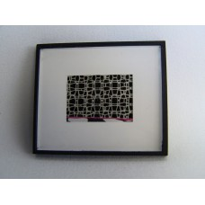 Picture Frame with Digital Art - Abstract Black/White