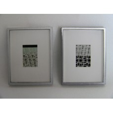 Picture Frame with Digital Art - Abstract B&W