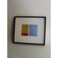 Picture Frame with Digital Art - Abstract Blue / Yellow / Orange