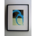 Picture Frame with Digital Art - Abstract Blue