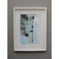 White Poster Frame with White Matte and Abstract Birch Print