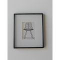 Black Framed Modern Chair Print