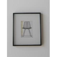 Black Framed Modern Chair Print