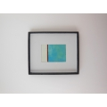 Black Framed Blue/White/Red Modern Print