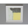 White Framed Yellow III Abstract Print