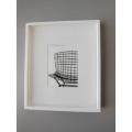 White Framed Modern Chair Print