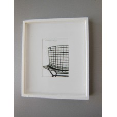 White Framed Modern Chair Print