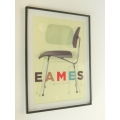 Eames Chair Print (Medium) Black Frame
