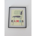 Eames Chair Print (Small) Black Frame