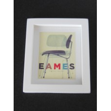 Eames Chair Print (Medium) White Thick Frame
