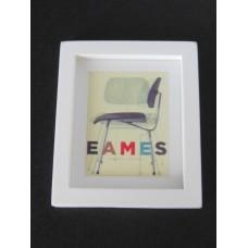 Eames Chair Print (Medium) White Thick Frame