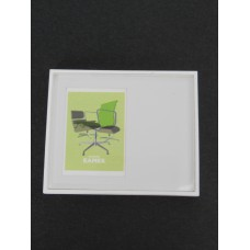 Eames Chair Print White Offset Frame