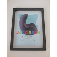 Arne Jacobsen Egg Chair Print Black Frame