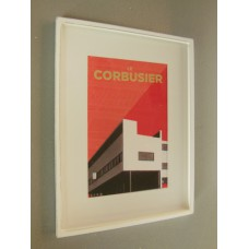 Le Corbusier Building Print White Frame