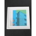 Bauhaus Building Print White Frame