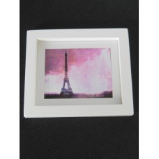 Eiffel Tower Print Thick White Frame